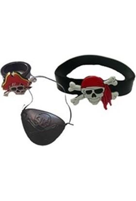 Fonnava Parti Eğlence Korsan Yüzük Bileklik Maske Seti