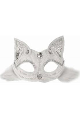 Fonnava Dantelli Beyaz Renk Kedi Maskesi