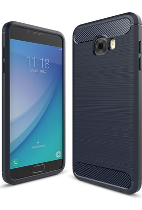 Case 4U Samsung Galaxy C7 Pro Korumalı Arka Kapak Room Lacivert