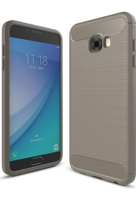Case 4U Samsung Galaxy C7 Pro Korumalı Arka Kapak Room Altın