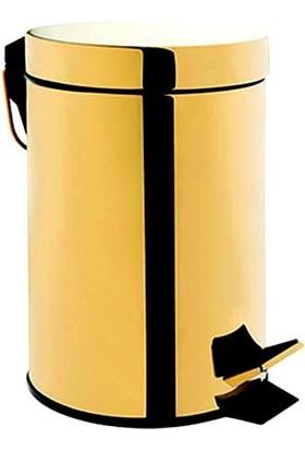 Saray Banyo Pedallı Çöp Kovası 3 Lt Altın