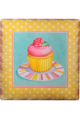 Decotown Cup Cake Ahşap Pano 40*40 (18225)