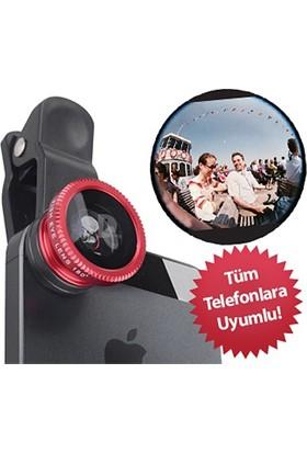 Pratik Balık Gözü Cep Telefonu Lensi (Tüm Modellere Uyumlu)