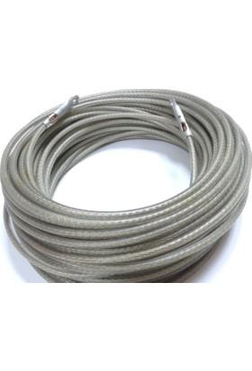 Gümrük Halatı Çelik Tel Halat 7 mm Kalınlık 18 M Uzunluk