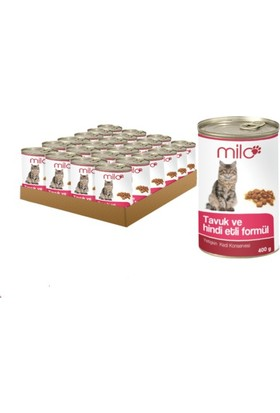 Milo Tavuk&Hindili Kedi Konservesi 400 gr - 24'lü