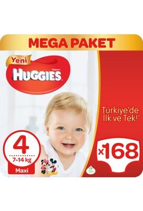 Huggies Bebek Bezi Maxi 4 Beden Mega Paket 168 Adet