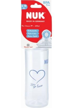 Nuk Pp Biberon Yeni Klasik 250 ml - Sl - Mavi Kalp