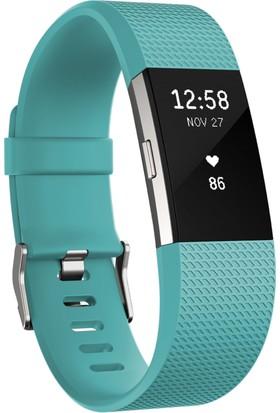 Fitbit Charge 2 Akıllı Bileklik Teal Silver - Large - FB407STEL-EU