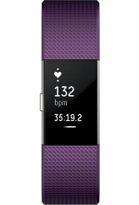 Fitbit Charge 2 Akıllı Bileklik Plum Silver - Large - FB407SPML-EU