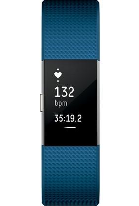 Fitbit Charge 2 Akıllı Bileklik Blue Silver - Large - FB407SBUL-EU