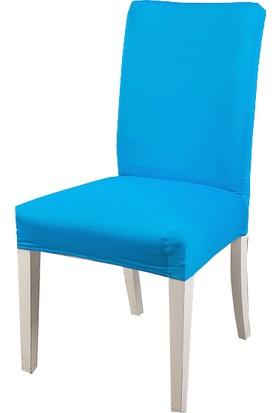 Masho Trend Turkuaz Sandalye Örtüsü Likralı Yıkanabilir Sandalye Kılıfı