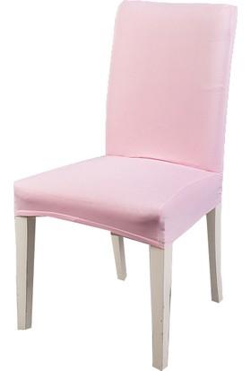 Masho Trend Pembe Sandalye Örtüsü Likralı Yıkanabilir Sandalye Kılıfı