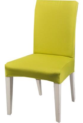Masho Trend Fıstık Yeşili Sandalye Örtüsü Likralı Yıkanabilir Sandalye Kılıfı
