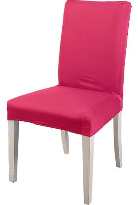 Masho Trend Fuşya Sandalye Örtüsü Likralı Yıkanabilir Sandalye Kılıfı