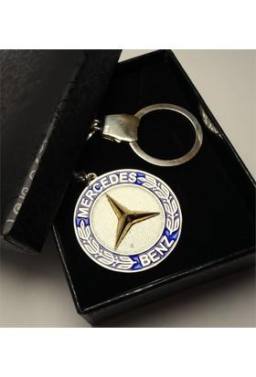 Osmanlı Gümüş Mercedes Benz Gümüş Anahtarlık 21 gr