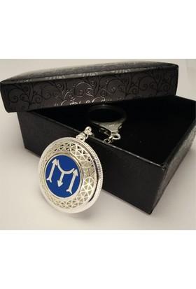 Osmanlı Gümüş Iyı Diriliş Ertuğrul Ve Tuğralı 925 Ayar Gümüş Anahtarlık 24 gr