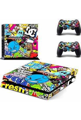 Playaks Ps4 Graffiti Skin Sticker Konsol Kaplama
