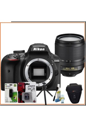 Nikon D3400 SLR Fotoğraf Makinesi + 18-105mm Lens + Hediye Kit