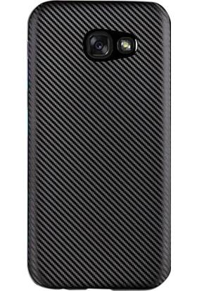 Gpack Samsung Galaxy A7 2017 Kılıf Karbon Kaplama Rubber +Cam