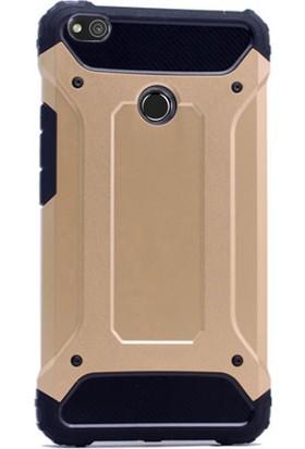 Gpack Huawei P9 Lite 2017 Kılıf Darbe Emici Sert Crash Case +Cam