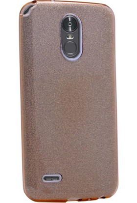 Gpack LG Stylus 3 Kılıf Shining Silikon Arka Kapak Case +Cam