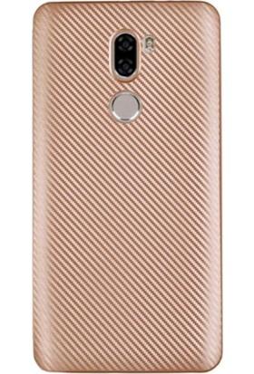 Gpack Xiaomi Mi 5S Plus Kılıf Carbon Fiber Silikon Case +Kalem+Cam