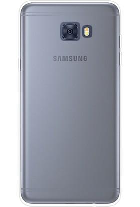Gpack Samsung Galaxy C7 Pro Kılıf 02mm Silikon Arka Kapak +Kalem + Cam