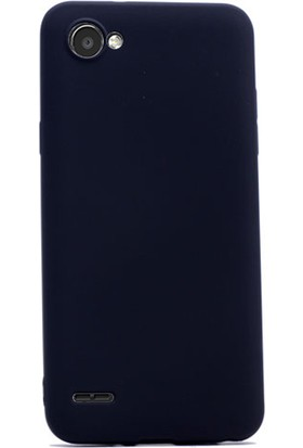 Gpack LG Q6 Kılıf Premier Silikon Yumuşak Doku Case + Cam