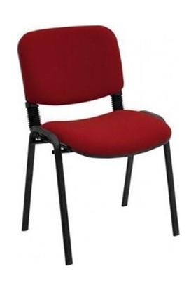Türksit Form Sandalye 2 Adet Set Bordo - Kumaş