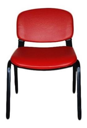 Türksit Form Sandalye 2 Adet Set Kırmızı - Deri