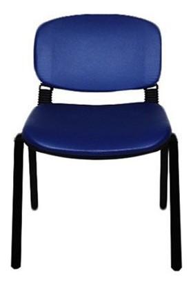 Türksit Form Sandalye 2 Adet Set P.Mavi - Deri