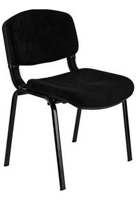 Türksit Form Sandalye 2 Adet Set Siyah - Deri