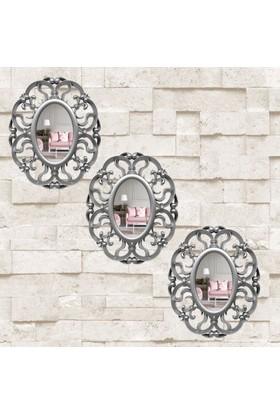 AntiQa Dekoratif Motifli 3'lü Ayna AAY12