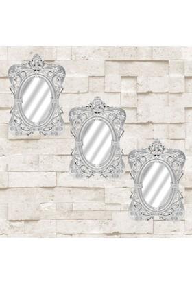 AntiQa Dekoratif Motifli 3'lü Ayna AAY15