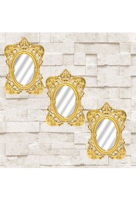 AntiQa Dekoratif Motifli 3'lü Ayna AAY20