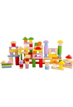 Biloba Ahşap Bloklar 100 Parça