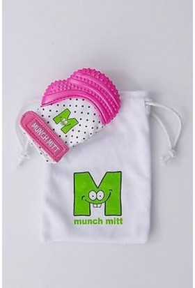 Mouthie Mitten Diş Kaşıyıcı Eldiven Pembe