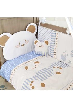Aybi Baby 244 Cute Bear Boy Bebek Uyku Seti 8 Parça 70 x 130
