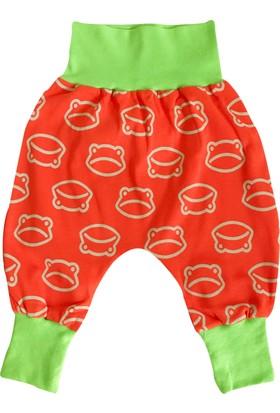 Dh Trades Yeşil - Turuncu Şalvar Bebek Pantolon 6 - 9 Ay