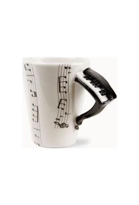Pratik Piyano Kulplu Kupa Bardak