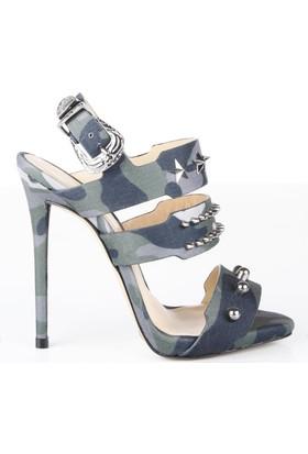Veyis Usta Zımbalı Kamuflaj Desenli Sandalet 414306