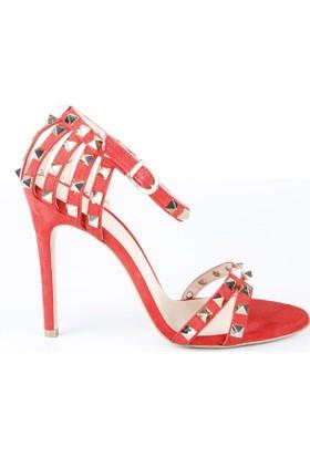 Veyis Usta Kadın Süet Zımbalı Bilek Bağlamalı Sandalet 4732