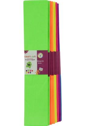 Craft And Arts Krepon Kağıdı Neon 50X200 10'Lu Karışık Poşet