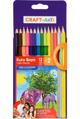 Craft And Arts Kuru Boya Tam Boy 12+2=14Lü
