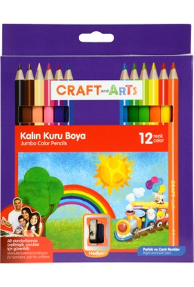 Craft&Arts Kuru Boya Jumbo 12 Li Cakb-J12