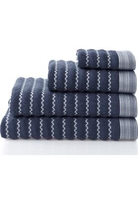 Dost Tekstil %100 Pamuklu MARE Lacivert Havlular