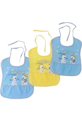 Babydo Cute Love Erkek Bebek Önlüğü 3'lü Paket