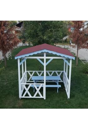 Tekzen Çatılı Piknik Masası 6 Kişilik