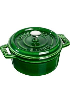 Staub Cocotte Döküm Mini Tencere Yeşil 10 Cm
