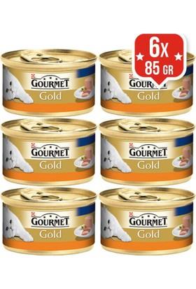 Purina Gourmet Gold Kıyılmış Hindili Konserve Kedi Maması 85 Gr X 6 Adet